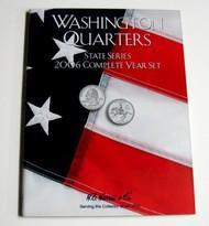 H.E. HARRIS   N/A 2006 Complete Year Washington State Quarters Coin Folder (D)<!-- _Disc_ --> HEH2589