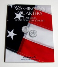 H.E. HARRIS   N/A 2007 Complete Year Washington State Quarters Coin Folder (D)<!-- _Disc_ --> HEH2590