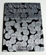 H.E. HARRIS   Washington Quarters District of Columbia & US Territories Collection 2009 Coin Folder HEH2640