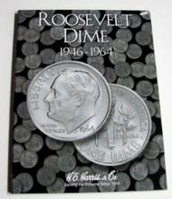 H.E. HARRIS   N/A Roosevelt Dime 1946-1964 Coin Folder HEH2684