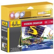 Heller  1/180 Drakkar Viking Ship w/Paint & Glue HLR49056