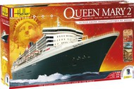 Heller  1/600 Queen Mary II Transatlantic Ocean Liner w/Paint & Glue HLR52902