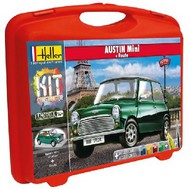 Heller  1/43 Austin Mini Car w/Paint & Glue in plastic carrying case HLR60153
