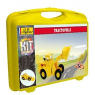 Heller  1/60 Front End Loader w/Paint & Glue in plastic carrying case HLR63003