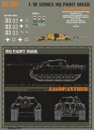 HQ-Masks  1/16 Jagdpanther unidentified unit Hungary spring 1945 Paint Mask HQ-JGP16002