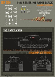 HQ-Masks  1/16 Jagdpanther 1.kompanie sPz.Jg.Abt.560 Ardennes December 1944 Paint Mask HQ-JGP16004