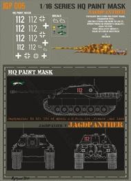 HQ-Masks  1/16 Jagdpanther 654th s.H.PzJg.Abt. France end 1944 Paint Mask HQ-JGP16005