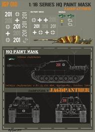HQ-Masks  1/16 Jagdpanther s.Pz.Jg.Abt.654 Grafenwohr October 1944 Paint Mask HQ-JGP16010