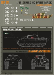 HQ-Masks  1/16 Jagdpanther 2.kompanie s.Pz.Jg.Abt.654 Germany Graenwohr October 1944 Paint Mask HQ-JGP16011