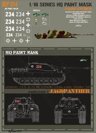 HQ-Masks  1/16 Jagdpanther s.H.Pz.Jg.Abt.654 Grafenwohr proving ground September 1944 Paint Mask HQ-JGP16014