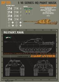 HQ-Masks  1/16 Jagdpanther 3.kompanie S.H.Pz.Jg.Abt.654 Normandy July 1944 Paint Mask HQ-JGP16015