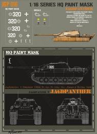 HQ-Masks  1/16 Jagdpanther 3.kompanie 130th Pz.Rgt. Pz.Lehr Div. Hungary Spring 1945 Paint Mask HQ-JGP16016