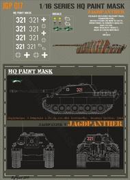 HQ-Masks  1/16 Jagdpanther 3.Kompanie s.Pz.Jg.Abt.654 Grafenwohr October 1944 Paint Mask HQ-JGP16017