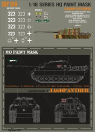 HQ-Masks  1/16 Jagdpanther 3.Kompanie s.Pz.Jg.Abt.654 Grafenwohr October 1944 Paint Mask HQ-JGP16018