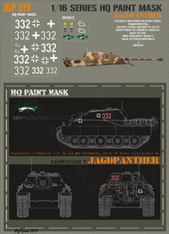 HQ-Masks  1/16 Jagdpanther 3rd kompanie s.Pz.Jg.Abt.654 Normandie North of Seine River France 1944 Paint Mask HQ-JGP16019
