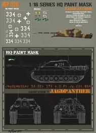 HQ-Masks  1/16 Jagdpanther s.H.Pz.Jg.Abt.654 Paint Mask HQ-JGP16020