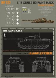 HQ-Masks  1/16 Jagdpanther 7th kompanie II/Pz.Lehr 130 area of Erkerode/Elm Germany April 1945 Paint Mask HQ-JGP16022