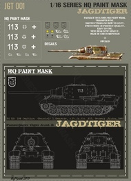 HQ-Masks  1/16 Sd.Kfz.186 Jagdtiger 1.kompanie s.Pz.Jg.Abt.512 Germany Spring 1945 Paint Mask HQ-JGT16001