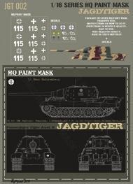 HQ-Masks  1/16 Sd.Kfz.186 Jagdtiger 1.kompanie 653.s.Pz.Jg.Abt Schwetzingen Germany March 1945 - Lt.Hans Knippenberg Paint Mask HQ-JGT16002