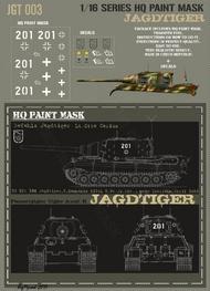 HQ-Masks  1/16 Sd.Kfz.186 Jagdtiger Befehls 2.kompanie 512th s.Pz.Jg.Abt near Iserlohn April 1945 - Lt. Otto Carius Paint Mask HQ-JGT16003