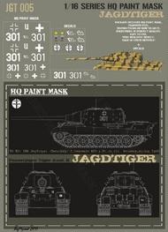 HQ-Masks  1/16 Sd.Kfz.186 Jagdtiger 3.kompanie 653.s.Pz.Jg.Abt. Germany Spring 1945 Paint Mask HQ-JGT16005
