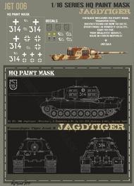 HQ-Masks  1/16 Sd.Kfz.186 Jagdtiger/Porsche 3.Kompanie s.Pz.Jg.Abt.512 Western Front Spring 1945 Paint Mask HQ-JGT16006