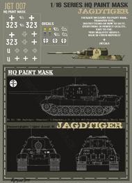 HQ-Masks  1/16 Sd.Kfz.186 Jagdtiger 3 Kompanie s.Pz.Jg.Abt.653 Neustadt Germany March 1945 Paint Mask HQ-JGT16007
