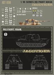 HQ-Masks  1/16 Sd.Kfz.186 Jagdtiger 3.kompanie s.Pz.Jg.Abt.653 Kampfgruppe Goggerle Neustadt Germany Spring 1945 Paint Mask HQ-JGT16008