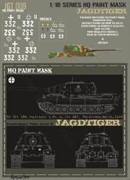 HQ-Masks  1/16 Sd.Kfz.186 Jagdtiger s.Pz.Jg.Abt.653 Morsbronn March 1945 Paint Mask HQ-JGT16009