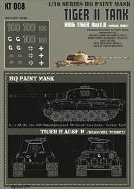 HQ-Masks  1/16 Kingtiger1./s.SS-Pz.Abt.503/Kompanienschef SS-Hstuf.Birschein/ Berlin 1945 Paint Mask HQ-KT16008