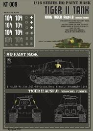 HQ-Masks  1/16 Kingtiger 1./s.SS-Pz.Abt.101/SS-Oscha Sepp Franzl/ Normandy 1944 Paint Mask HQ-KT16009