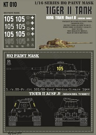 HQ-Masks  1/16 Kingtiger 1./s.SS-Pz.Abt.101 /SS-Hsuf.Mobius/ France 1944 Paint Mask HQ-KT16010
