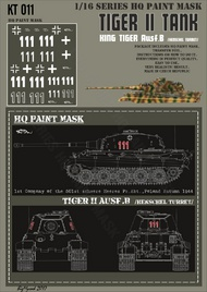 HQ-Masks  1/16 Kingtiger 1st Company 501st schwere Heers Pz.Abt. Poland Autumn 1944 Paint Mask HQ-KT16011