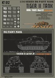HQ-Masks  1/16 Kingtiger 1.st Company/s.Pz.abt.503 Normandy Summer 1944 Paint Mask HQ-KT16012
