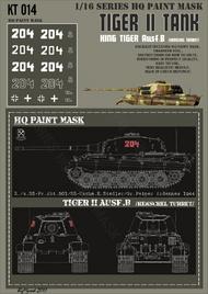 HQ-Masks  1/16 Kingtiger2./s.SS-Pz.Abt.501/ SS-Uscha.E.Stadler/Gr.Peiper Ardennes 1944 Paint Mask HQ-KT16014