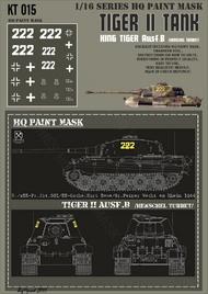 HQ-Masks  1/16 Kingtiger 2./s.SS-Pz.Abt.501/ SS-Oscha.Kurt Sowa /Gr.Peiper Wacht am Rhein 1944 Paint Mask HQ-KT16015