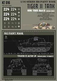 HQ-Masks  1/16 Kingtiger 2./s.SS-Pz.Abt.501/ SS-P.Gratzer/ Wacht am Rhein 12.1944 Paint Mask HQ-KT16016