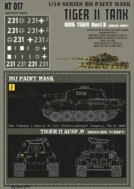 HQ-Masks  1/16 Kingtiger 2nd Company s.Heeres Pz.Abt. 'Felderrnhalle' Hungary March 1945 Paint Mask HQ-KT16017