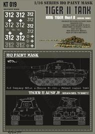 HQ-Masks  1/16 Kingtiger 3./s.Heeres Pz.Abt.501 Poland August 1944 Paint Mask HQ-KT16019