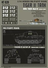 HQ-Masks  1/16 Kingtiger 3rd Company 501st SS-s.PZ.Abt./SS-Oscha Ritter/Ardennes December 1944 Paint Mask HQ-KT16020