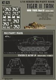 HQ-Masks  1/16 Kingtiger 3./s.Heeres Pz.Abt.501 Chmelnik Polen 1944 Paint Mask HQ-KT16021