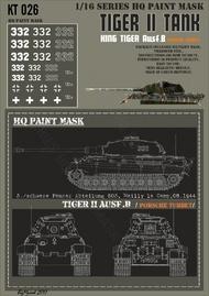 HQ-Masks  1/16 Kingtiger 3./s.Pz.Abt.503 Mailly le Camp 08.1944 Paint Mask HQ-KT16026
