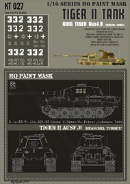 HQ-Masks  1/16 Kingtiger 2./s.SS-Pz.Abt.501/SS-Uscha O.Blase/ Gr.Peiper Ardennes 1944 Paint Mask HQ-KT16027