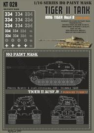 HQ-Masks  1/16 KingtigerPanzer Ersatz & Ausb. Abteilung 500 - Germany 1945 Paint Mask HQ-KT16028