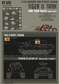 HQ-Masks  1/16 Kingtiger stab /schwere Heeres Pz.Abt.505 area of Nasielsk Poland 09 1944 Paint Mask HQ-KT16029