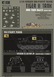 HQ-Masks  1/16 Kingtiger1./schwere Heeres Pz. Abt. 505 Poland September 1944 Paint Mask HQ-KT16030