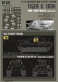 HQ-Masks  1/16 Kingtiger1./s.Heeres Pz.Abt.505 Ohrdruf Training Area Germany August 1944 Paint Mask HQ-KT16031