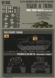 HQ-Masks  1/16 Kingtiger 1./schwere Heeres Pz. Abt. 505 Poland September 1944 Paint Mask HQ-KT16032