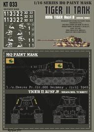 HQ-Masks  1/16 Kingtiger 1./s.Heeres Pz.Abt.505 Germany April 1945 Paint Mask HQ-KT16033
