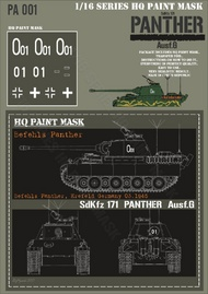 HQ-Masks  1/16 Befehls Panther G Krefeld Germany 03.1945 Paint Mask HQ-PA16001